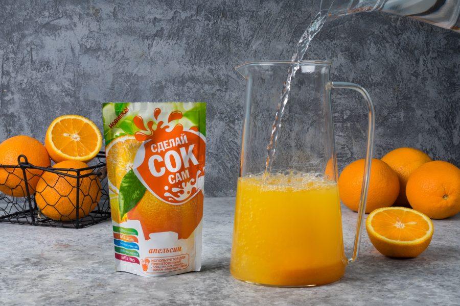 Фруктовые соки и напитки с добавлением сахара